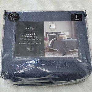 HAVEN TWIN Duvet Cover & 1 Sham Slate